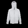 Lightweight Zip Hooded Sweatshirt in heather-grey