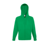 Lightweight Zip Hooded Sweatshirt in kelly-green