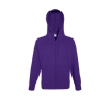 Lightweight Zip Hooded Sweatshirt in purple