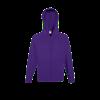 Lightweight Zip Hooded Sweatshirt in purple