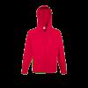 Lightweight Zip Hooded Sweatshirt in red