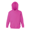 Kids Hooded Sweatshirt in fuchsia