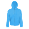 Zip Hooded Sweatshirt in azure