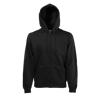 Zip Hooded Sweatshirt in black