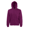 Zip Hooded Sweatshirt in burgundy