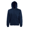 Zip Hooded Sweatshirt in deep-navy