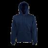 Zip Hooded Sweatshirt in deep-navy