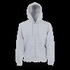 Zip Hooded Sweatshirt in heather-grey