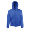 Zip Hooded Sweatshirt in royal-blue