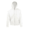 Zip Hooded Sweatshirt in white