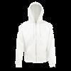 Zip Hooded Sweatshirt in white
