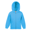 Kids Zip Hooded Sweatshirt in azure