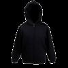 Kids Zip Hooded Sweatshirt in black