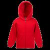 Kids Zip Hooded Sweatshirt in red