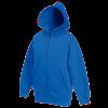 Kids Zip Hooded Sweatshirt in royal-blue