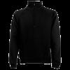 Zip Neck Sweatshirt in black