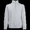 Zip Neck Sweatshirt in heather-grey