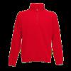 Zip Neck Sweatshirt in red
