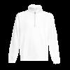 Zip Neck Sweatshirt in white