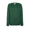 Lady Fit Lightweight Raglan Sweatshirt in bottle-green