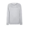 Lady Fit Lightweight Raglan Sweatshirt in heather-grey