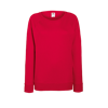 Lady Fit Lightweight Raglan Sweatshirt in red