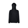 Lady Fit Lightweight Hooded Sweatshirt in black
