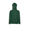 Lady Fit Lightweight Hooded Sweatshirt in bottle-green