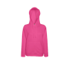 Lady Fit Lightweight Hooded Sweatshirt in fuchsia