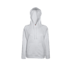 Lady Fit Lightweight Hooded Sweatshirt in heather-grey