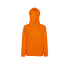 Lady Fit Lightweight Hooded Sweatshirt in orange
