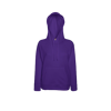Lady Fit Lightweight Hooded Sweatshirt in purple