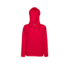 Lady Fit Lightweight Hooded Sweatshirt in red