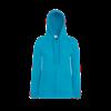 Lady Fit Lightweight Zip Hooded Sweatshirt in azure