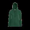 Lady Fit Lightweight Zip Hooded Sweatshirt in bottle-green