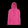 Lady Fit Lightweight Zip Hooded Sweatshirt in fuchsia