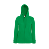 Lady Fit Lightweight Zip Hooded Sweatshirt in kelly-green