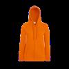 Lady Fit Lightweight Zip Hooded Sweatshirt in orange