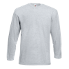 Long Sleeve Value T-Shirt in heather-grey