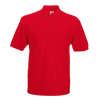 Pocket Pique Polo Shirt in red