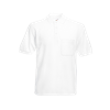 Pocket Pique Polo Shirt in white