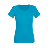 Lady Fit Performance T-Shirt in azure
