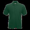 Poly Cotton Heavy Pique Polo Shirt in bottle-green