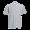 Poly Cotton Heavy Pique Polo Shirt in heather-grey