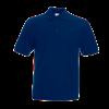 Poly Cotton Heavy Pique Polo Shirt in navy