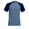 Contrast Baseball T-Shirt in steel-blue-with-deep-navy