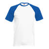 Contrast Baseball T-Shirt in white-with-royal-blue