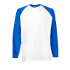 Contrast Long Sleeve Baseball T-Shirt in white-with-royal-blue