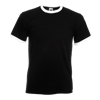 Contrast Ringer T-Shirt in black-with-white
