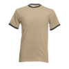 Contrast Ringer T-Shirt in khaki-with-light-graphite